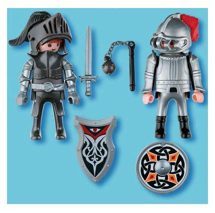 Imagen 2 de Playmobil - Pack de 2 figuras caballeros de hierro (5886)