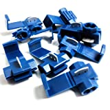 BLUE QUICK SPLICE SCOTCH LOCK WIRE CONNECTORS ELECTRICAL CABLE JOINTS AUTO QS2 (10)