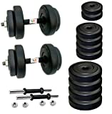 #4: BODYFIT 12Kg Adjustable Dumbells Set Can Be Used As Pair 3 Kgs, 5 Kgs & 7 Kgs