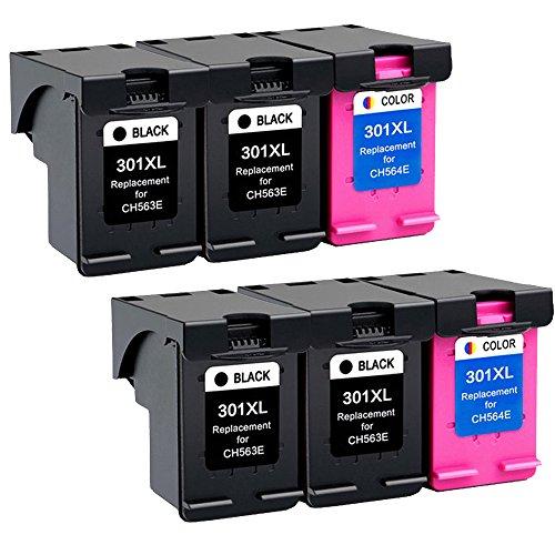 Wolfgray Remanufactured HP 301 XL 301XL Tintenpatronen Kompatibel zu HP Deskjet 2544 2540 1010 1000 3050 1510 2510, HP Officejet 2620 4630 4636 2622 4634, HP Envy 4500 4504 5530 5532 4502