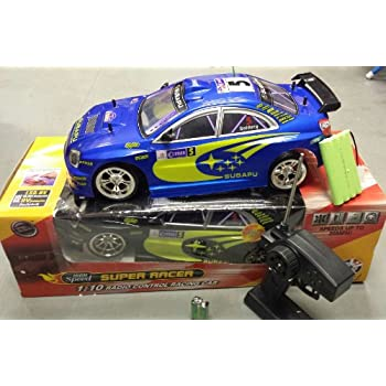 SUBAPU CAR SUBARU IMPREZA STYLE RADIO REMOTE CONTROL CAR 20MPH SPEED 1/10 BLUE