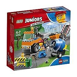 Juniors City Straßenbau-LasterHilf den LEGO® City Straßenbau-Fahrzeugen, die Straßen in Schuss zu halten! Dieses lustige Unterhaltungsspielzeug für Jungen und Mädchen enthält einen einfach baubaren Straßenbau-Laster mit einfacher Karosserie, Kabine f...