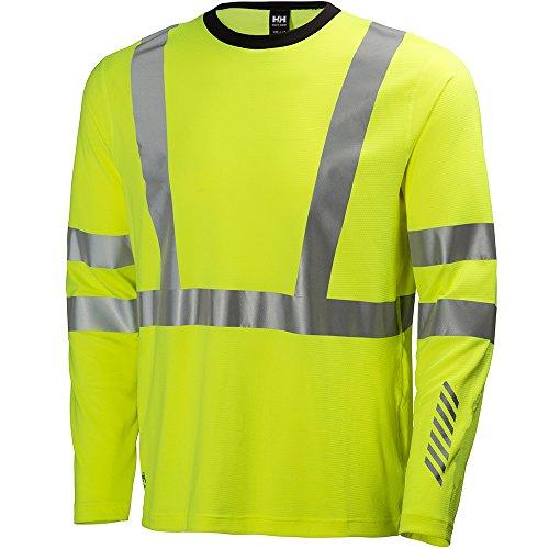Helly Hansen Workwear Warnschutz Langarmshirt Esbjerg Crewneck Longsleeve Shirt EN471, L, gelb, 75018 -