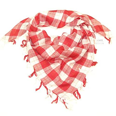 Women Scarf Red - Checkered Scarfs for ladies with shining