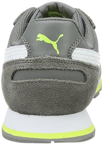 Puma St Runner Nl Jr, Scarpe da Ginnastica Basse Unisex – Bambini Grigio (Steel Gray-puma White 14)