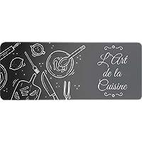 ID mate del arte Decor de cocina, fibra sintética, negro, 50x 120x 0,4cm)