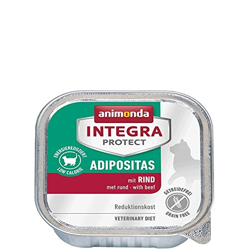animonda Integra Protect Adipositas Katzen-Nassfutter   Diätfutter   Tiernahrung bei Übergewicht   Sorte: Rind (16 x 100 g)