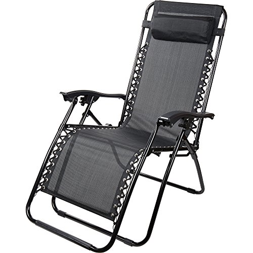 Sedie sdraio reclinabili nere textoline zero gravity da for Mobili giardino sconti