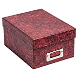 ALBOX700RED Photo Album Company Marble Red Rigid Photograph Storage Gift Box. Store 700 4x6 (10x15cm) Photos