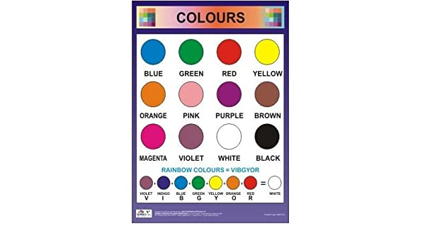 Amazon Buy Colours Chart Colors Chart For Kids Book Online At