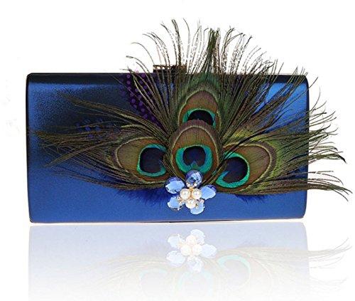 Peacock Sac à Bandoulière En Toile Ouverte blue