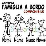 Adesivo famiglia a bordo, family sticker, adesivo bimbo a bordo