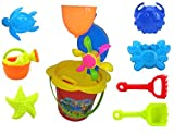 #2: VSHINE Beach Toy Set with bucket and Water Wheel for kids