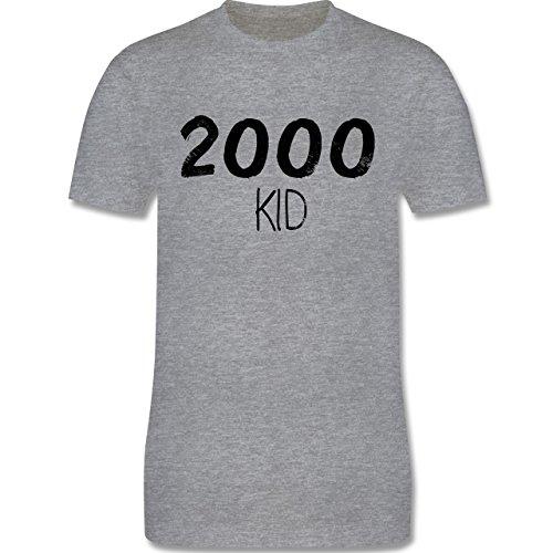 Shirtracer Geburtstag - 2000 Kid - Herren T-Shirt Rundhals Grau Meliert