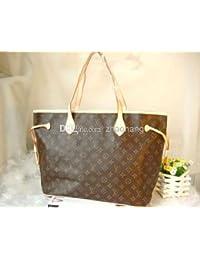 Louis Vuitton Monogram lienzo Neverfull mm m40156 bolso de mano incluye protector contra el polvo y fabricantes FECHA código