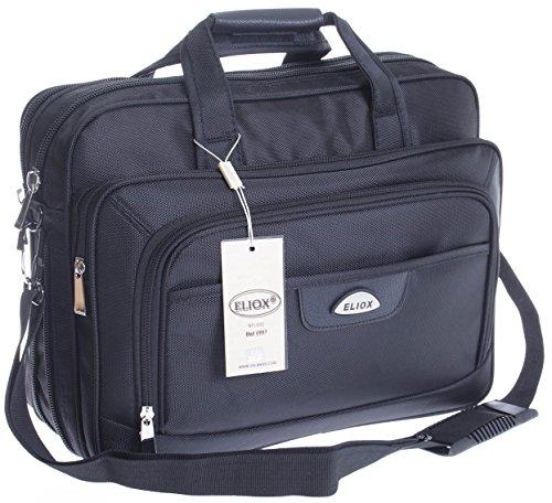 Schultertasche Citybag Flugbegleiter Ausweistasche Umhängetasche Business Messenger Bag Tasche Black NEU (Modell 5)