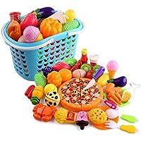 GANADA 40 Piezas Juguetes de Frutas y Verduras Juego de Cocina Juegos de Aprendizaje y Coordinación