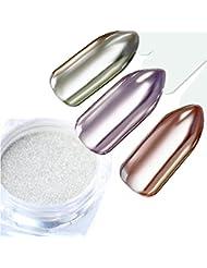 Mirror Glass Nail Glitter Pigment Powder 1g Silver Shimmer Powder Dust Manicure Nail Art Decorations Nail Art Chrome Pigment UV Gel Polish Decorations