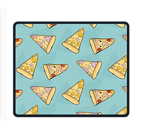 "Mauspad für Gaming, Design ""Space Awesome Face"", Rutschfest, Gummi, langlebig, 24,9 x 29,5 cm, pizza3, 9.8 X 11.8 inch"