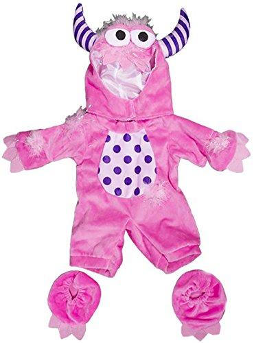 Monster Bett Kostüm Dem Unter - Stuffems Toy Shop Rosa Monster-Kostüm-Teddybär-Kleidung Outfit paßt die meist 8