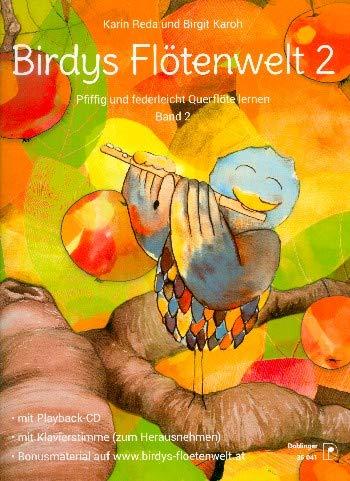 Querflötenschule von Karin Reda mit CD, Notenklammer - Birdys Flötenwelt 2