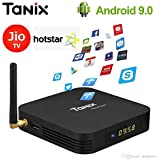 SreeTeK Tanix TX6 2GB 16GB Android 9.0 Mini PC Supports JIO TV, Hotstar Apps, 2.4GHz 1080P 6K Smart TV Android TV Box 4K