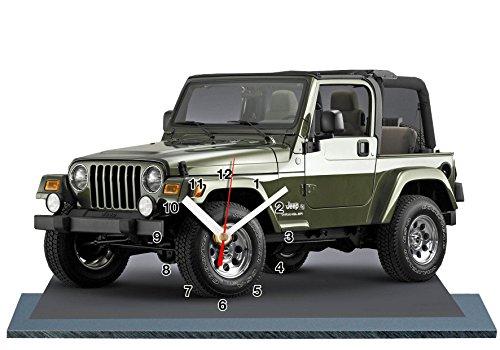 auto-horloge Jeep Wrangler, Miniatur Modell Motorrad in der Uhr 03