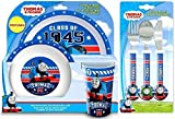 Thomas The Tank Engine 'College' 6-Piece Dinner and Cutlery Set | Tumbler Bowl, Cup, Knife, Fork and Spoon