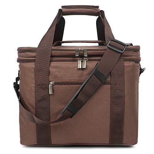 Oflamn Große Kühltasche Leichte Praktische Picknicktasche für Grillen, Wandern, Ausflüge, Urlaub 20L (Kaffee)