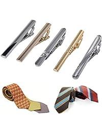 Ballylelly 5PCS / Set Clips de Lazo exquisitos de la Corbata de la aleación de Metales del Color sólido de los Hombres del Color fijados para el Negocio