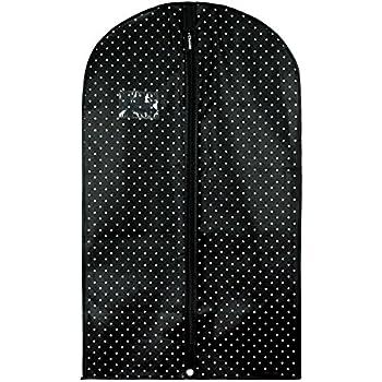 Hangerworld Atmungsaktiver Kleidersack 100cm Schwarz Wei/ß Gepunktet Kleiderschutzh/ülle