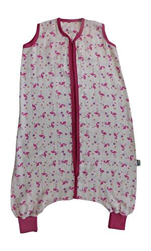 Schlummersack Schlummersack Schlafsack mit Füßen aus Bambus-Musselin für den Sommer ungefüttert in 0.5 Tog Flamingos - 3-4 Jahre/110cm