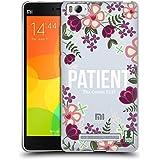 Head Case Designs Patient Floral Verses 2 Soft Gel Case for Xiaomi Mi 4c / Mi 4i