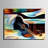 WJ-HOME Öl Gemälde Handgemalt-abstrakten europäischen Stil Modern Leinwand gehören Innerer Rahmen, 90 cm x 60 cm