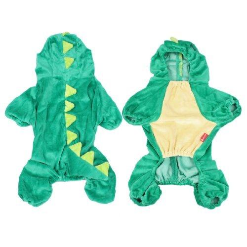 Kostuem-Dinosaurier Design Hund Kleidung Mantel Puppy Overall Jumpsuit M (Verkaufen Halloween-kostüme)