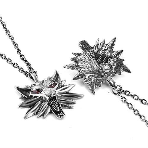 FOR TMT Collares Y Colgantes De Halloween Wizard Witcher 3 Medallion Necklace Wolf Head Necklace U Pick Color