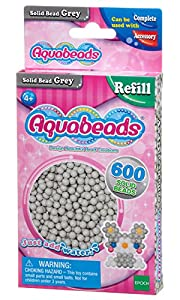 Aquabeads- Solid Beads, Color Gris (Epoch para Imaginar 32648)