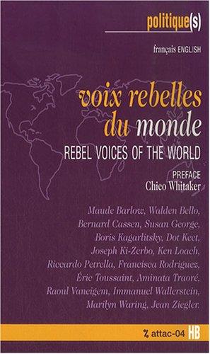 Voix rebelles du monde : Edition bilingue franais-anglais