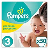 Pampers Premium Protection Windeln Gr. 3 (5-9 kg), 1er Pack (1 x 50 Stück)