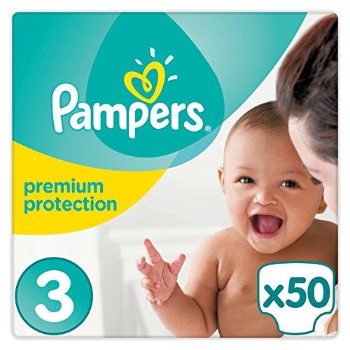 Pampers Premium Protection Windeln Gr. 3 (5-9 kg), 1er Pack (1 x 50 Stück)