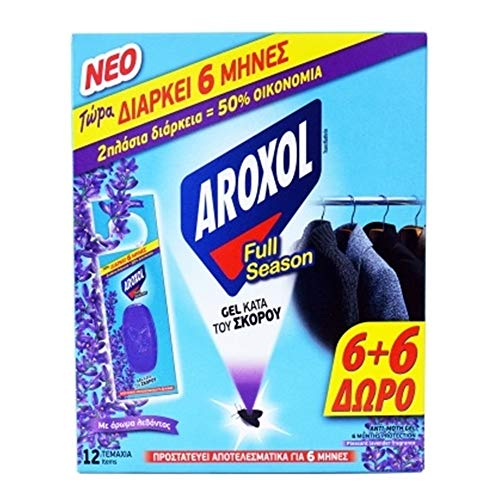 Naturel Anti-Moth Gel tablettes/Sachet Packs agréable Parfum de Lavande pour vêtements en Tissu 6 + 6 Gratuit - Durer jusqu'à 6 Mois