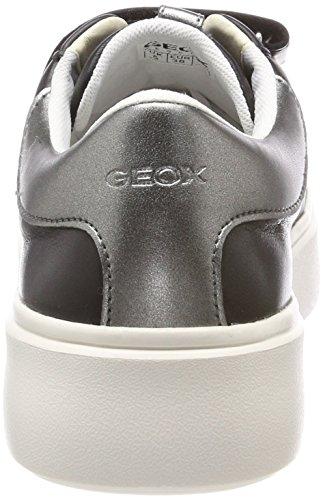 Geox D Nhenbus C, Scarpe da Ginnastica Basse Donna Nero (Black)