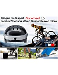 Casco Multi Sport Camera Full HD 2K,–Altavoces y función manos libres Carbon