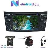 """Android 7.1 Autoradio, Hi-azul 2 Din Radio de Coche 7"""" Navegación GPS Auto Radio Estereo con Pantalla Multitáctil y Reproductor De DVD para Mercedes-Benz E-W211/E200/E220/E240/E270/E280 (con Cámara de Visión Trasera y DVR)"""