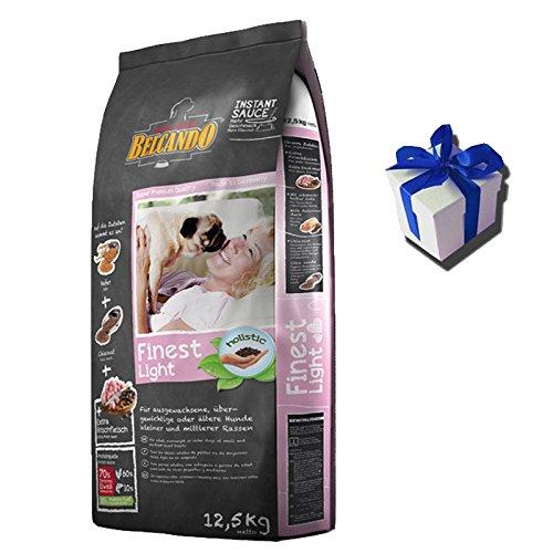 Für Hunde übergewichtige Hundefutter (12,5 kg Belcando FINEST LIGHT Hundefutter für übergewichtige Hunde + Geschenk)