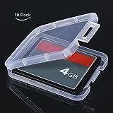 10x Plastik Speicherkarte Hülle für TF Micro SD SDHC MMC CF Speicher Karte Kartenadapter
