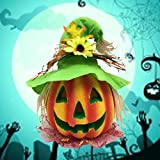 BESTOYARD Halloween Kürbis Laterne Jack-o-Laterne Dekoration Scary Modell mit batteriebetriebenen Figur Statue Spukhaus Dekoration - 8