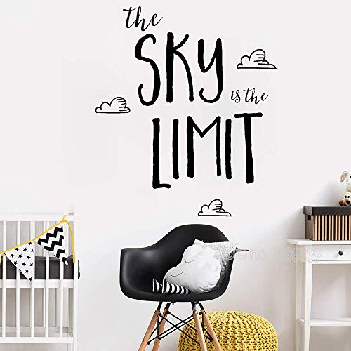 56Cm X 65Cm Love Inspirational Wandaufkleber Sky Ist Der Ultimative Art Family Baby Kinderzimmer Kind Kinderzimmer Dekoration Aufkleber Vinyl Aufkleber