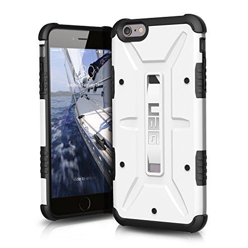 Urban Armor Gear Schutzhülle nach US-Militärstandard für Apple iPhone 6 Plus /6S Plus - weiß [Verstärkte Ecken | Sturzfest | Antistatisch   Vergrößerte Tasten] - UAG-IPH6/6SPLS-WHT-VP (Urban 5 Fall Iphone)