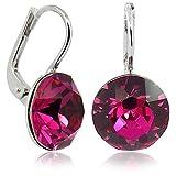 Ohrringe mit Kristallen von Swarovski® Silber Pink NOBEL SCHMUCK
